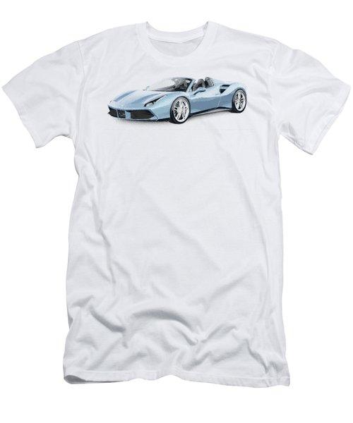 Ferrari 488 Spider - Parallel Hatching Men's T-Shirt (Athletic Fit)