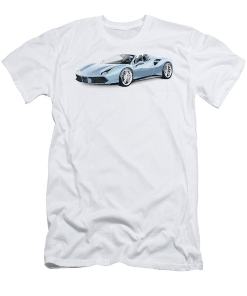Ferrari 488 Spider - Parallel Hatching Men's T-Shirt (Athletic Fit)