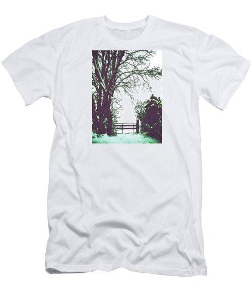 Field Gate Men's T-Shirt (Slim Fit) by Anne Kotan