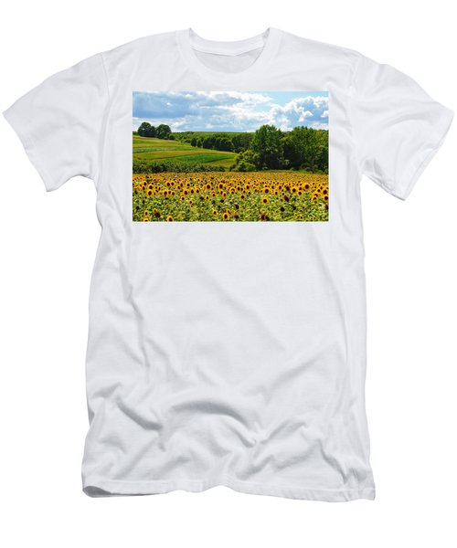 Field Of Sunflowers Men's T-Shirt (Athletic Fit)
