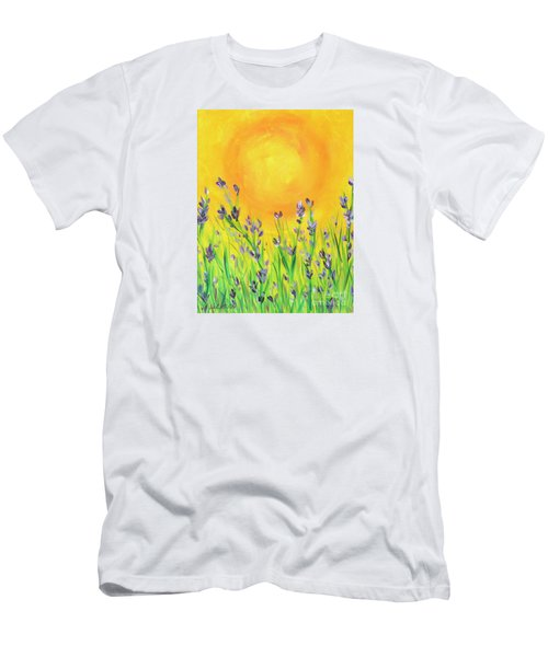 Men's T-Shirt (Slim Fit) featuring the painting Field Sunset by Val Miller