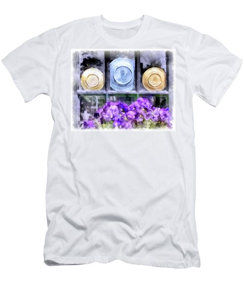 Fiestaware Window Display With Pansies Men's T-Shirt (Athletic Fit)