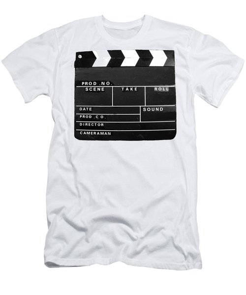 Film Movie Video Production Clapper Board  Men's T-Shirt (Athletic Fit)