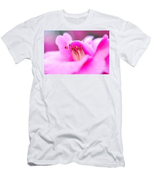 Fine Art- Pink Camellia Men's T-Shirt (Athletic Fit)