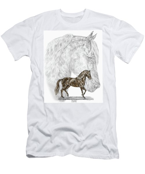 Fine Steps - Paso Fino Horse Print Color Tinted Men's T-Shirt (Athletic Fit)