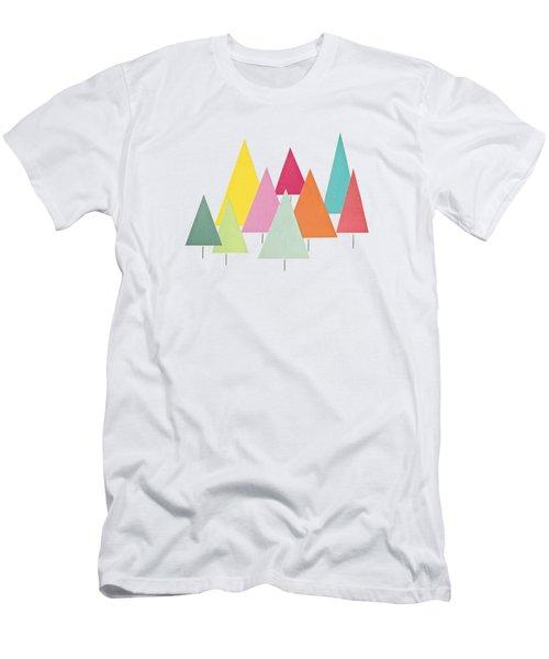 Fir Trees Men's T-Shirt (Athletic Fit)