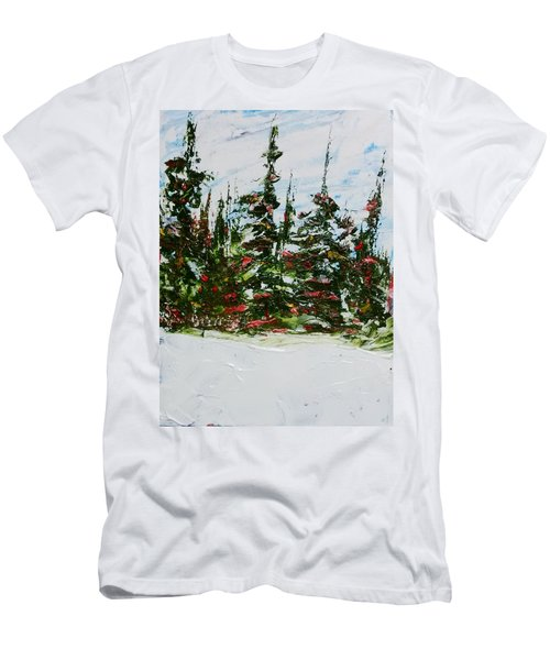 Fir Trees - Spring Thaw Men's T-Shirt (Athletic Fit)