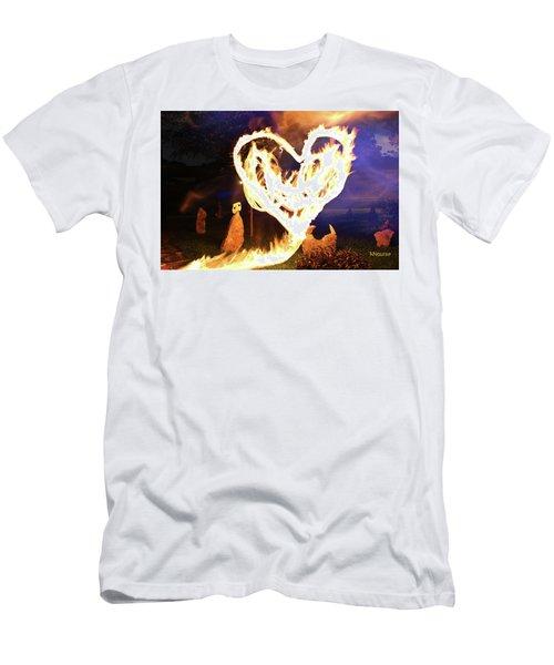 Fire Heart Men's T-Shirt (Athletic Fit)