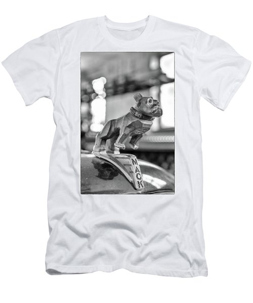 Men's T-Shirt (Slim Fit) featuring the photograph Fire Truck Hood Ornament by Patricia Schaefer