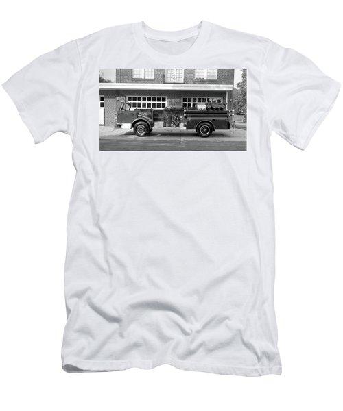 Fire Truck Men's T-Shirt (Slim Fit) by Paul Seymour