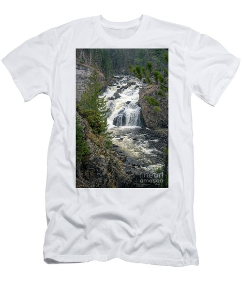 Firehole Falls Men's T-Shirt (Slim Fit) by Cindy Murphy - NightVisions