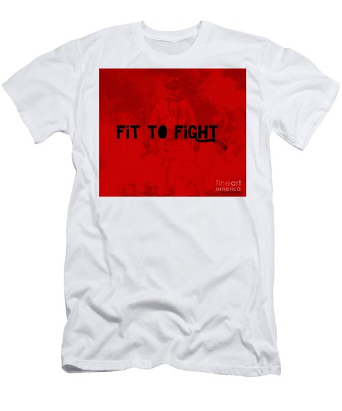 Fireman In Red Men's T-Shirt (Athletic Fit)