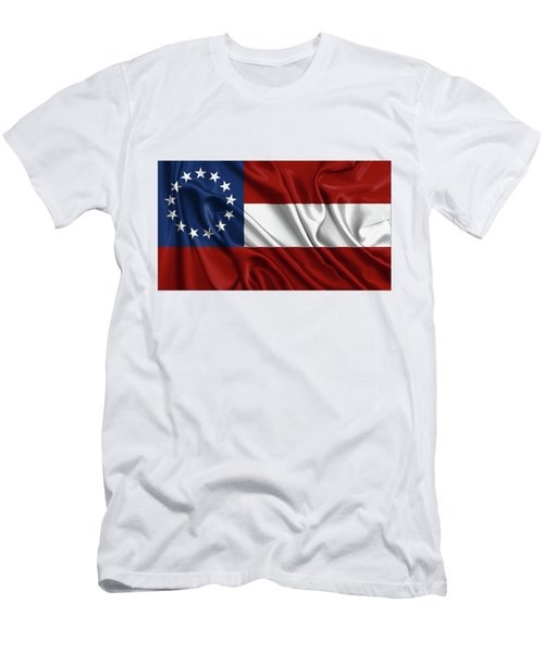 First Flag Of The Confederate States Of America - Stars And Bars 1861-1863 Men's T-Shirt (Athletic Fit)