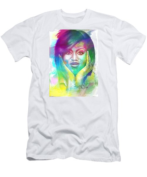 Men's T-Shirt (Slim Fit) featuring the mixed media First Lady Obama by AC Williams