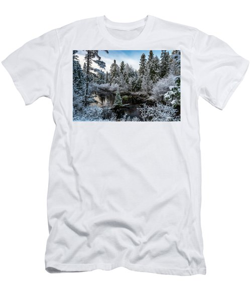 First Snow On Grand Marais Creek Men's T-Shirt (Athletic Fit)