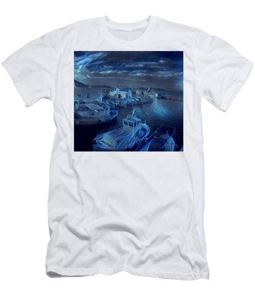 Fish Harbour Paros Island Greece Men's T-Shirt (Athletic Fit)