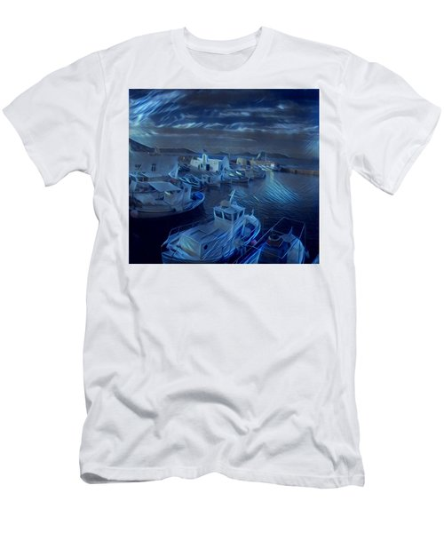 Fish Harbour Paros Island Greece Men's T-Shirt (Athletic Fit)