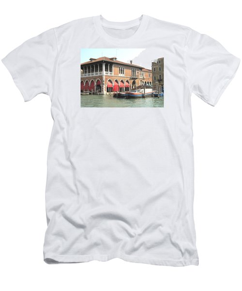 Fish Market Venise Men's T-Shirt (Slim Fit) by Lisa Boyd
