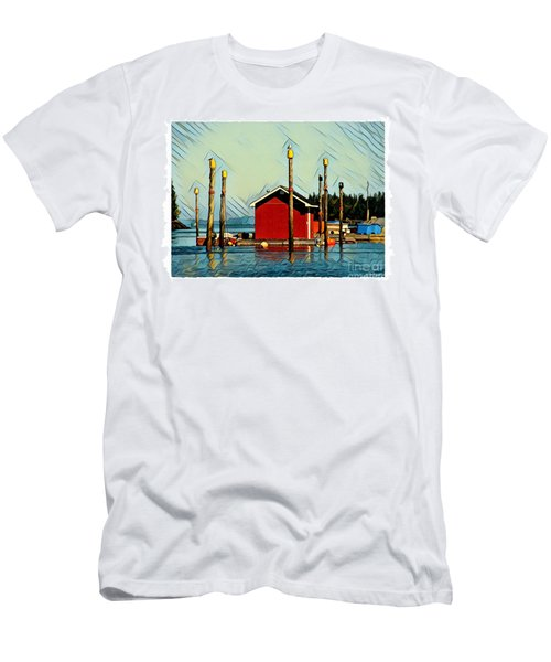 Fish Shack, Campobello Men's T-Shirt (Athletic Fit)