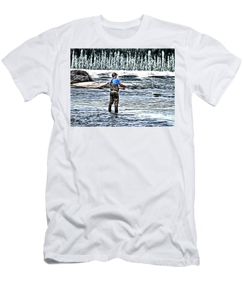 Fisherman On The River Men's T-Shirt (Athletic Fit)