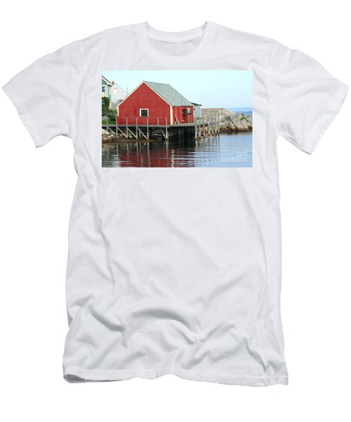 Fishermans House On Peggys Cove Men's T-Shirt (Athletic Fit)
