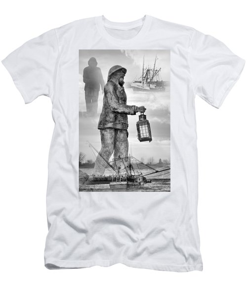 Men's T-Shirt (Athletic Fit) featuring the photograph Fishermen - Jersey Shore by Angie Tirado