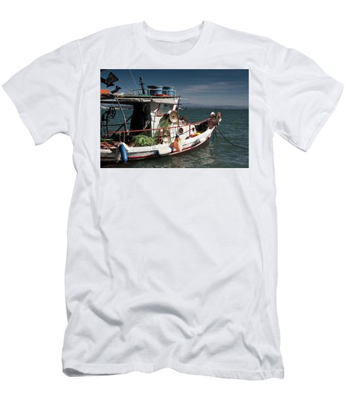 Men's T-Shirt (Slim Fit) featuring the photograph Fishing by Bruno Spagnolo