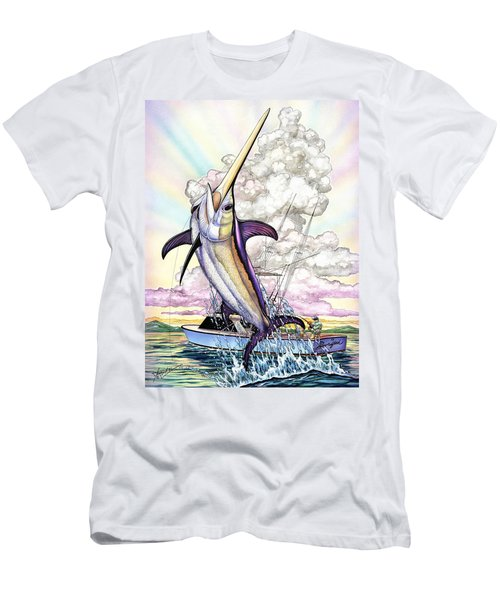 Fishing Swordfish Men's T-Shirt (Athletic Fit)