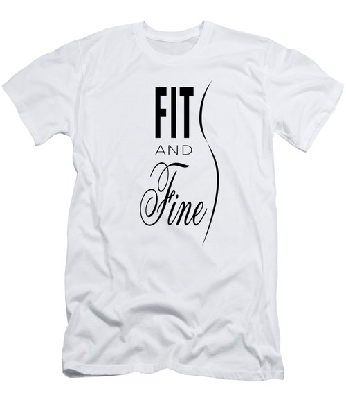 Fit And Fine Men's T-Shirt (Athletic Fit)