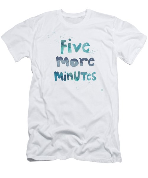 Men's T-Shirt (Slim Fit) featuring the painting Five More Minutes by Linda Woods