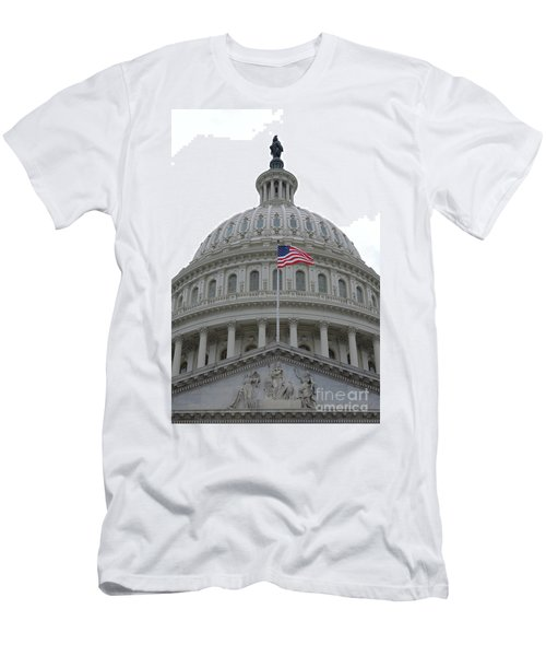 Flag And Dome Men's T-Shirt (Athletic Fit)