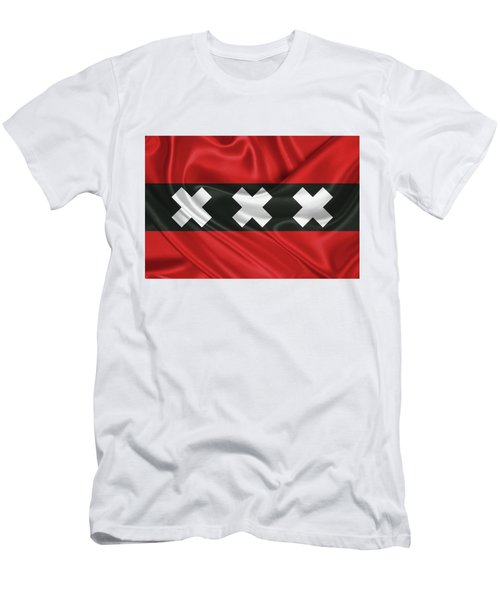 Flag Of Amsterdam  Men's T-Shirt (Athletic Fit)