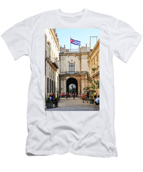 Flag Of Cuba Men's T-Shirt (Athletic Fit)