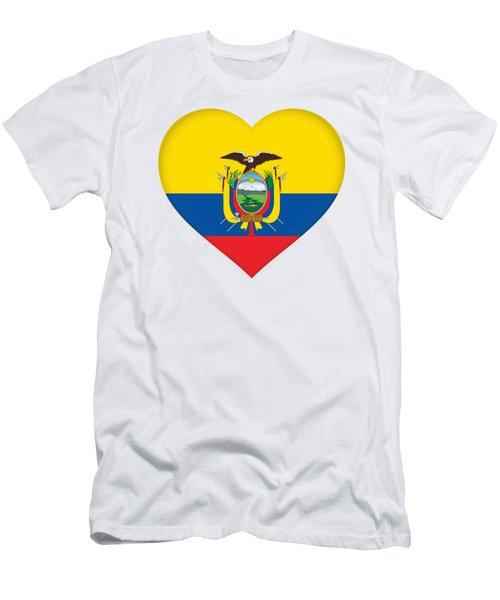 Flag Of Ecuador Heart Men's T-Shirt (Athletic Fit)