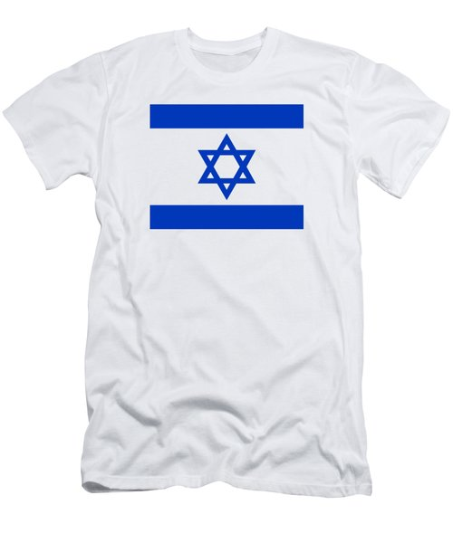Flag Of Israel Authentic Version Men's T-Shirt (Athletic Fit)