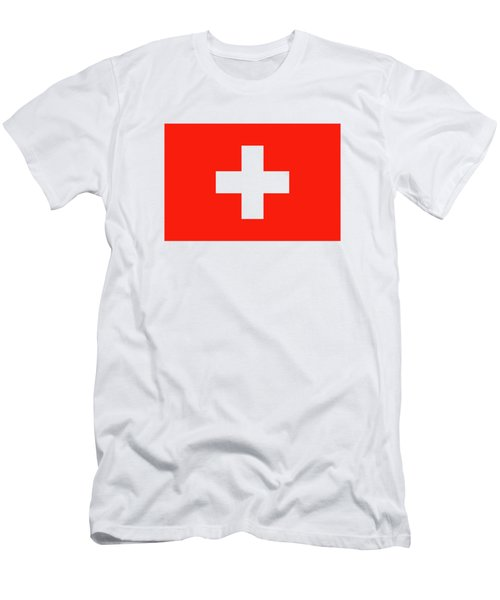 Flag Of Switzerland Men's T-Shirt (Slim Fit) by Bruce Stanfield