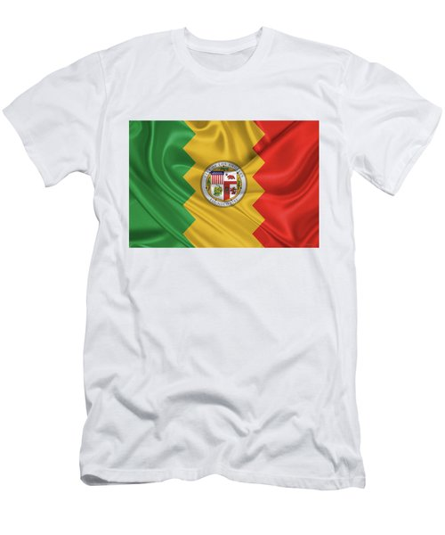 Flag Of The City Of Los Angeles Men's T-Shirt (Slim Fit) by Serge Averbukh