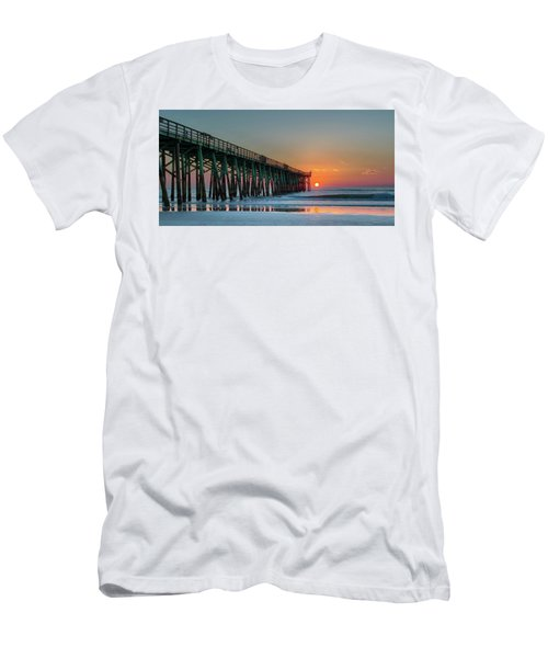 Flagler Pier Sunrise Men's T-Shirt (Athletic Fit)