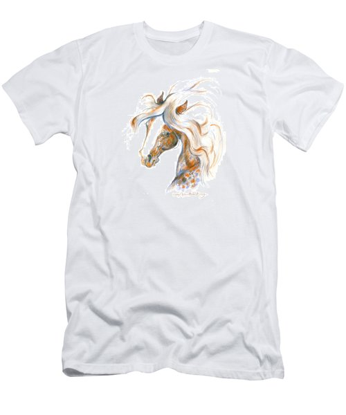 Men's T-Shirt (Slim Fit) featuring the painting Flair by Mary Armstrong