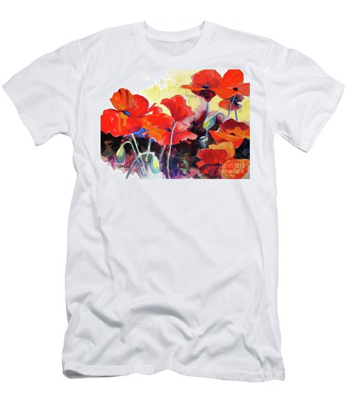 Flaming Poppies Men's T-Shirt (Athletic Fit)