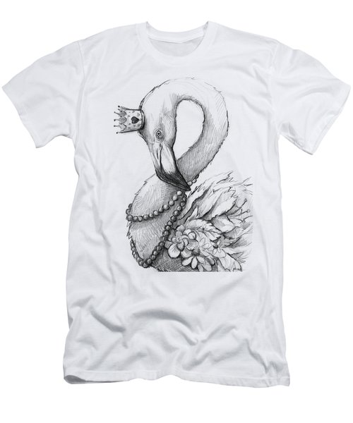 Flamingo In Pearl Necklace Men's T-Shirt (Athletic Fit)