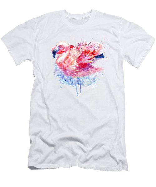 Flamingo On The Water Men's T-Shirt (Athletic Fit)