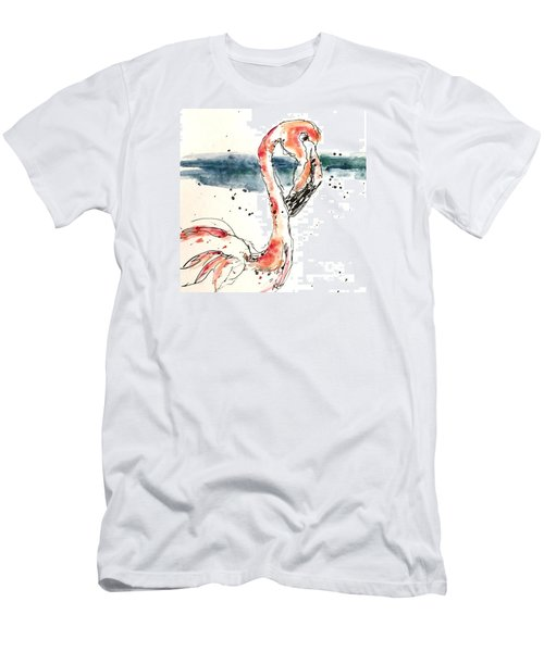 Flamingo Pool Men's T-Shirt (Athletic Fit)