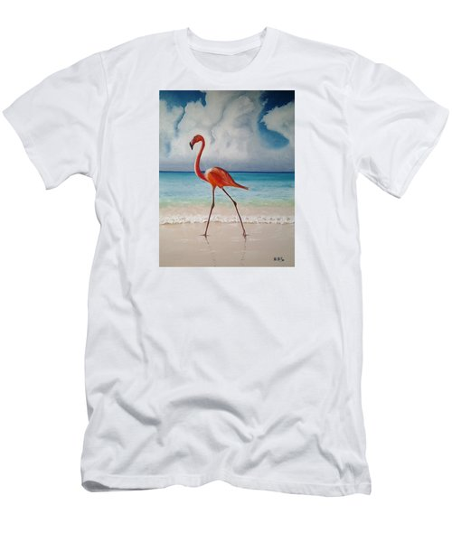 Flamingo Walk Men's T-Shirt (Athletic Fit)