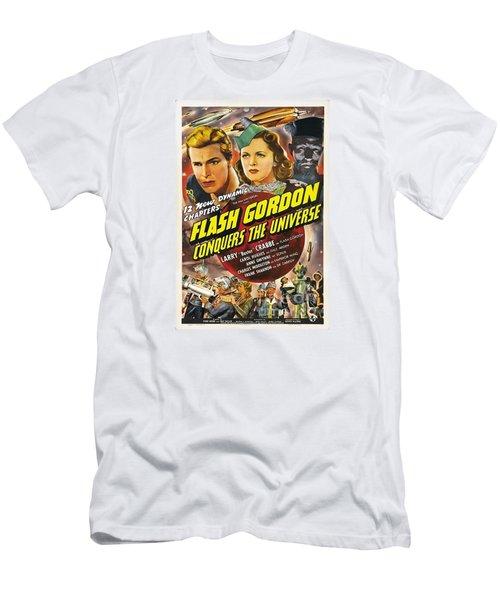 cac8dcd662d3fd Flash Gordon Conquers The Universe Men s T-Shirt (Athletic Fit)