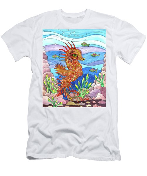 Flashy Swimmer And Fishes Men's T-Shirt (Athletic Fit)