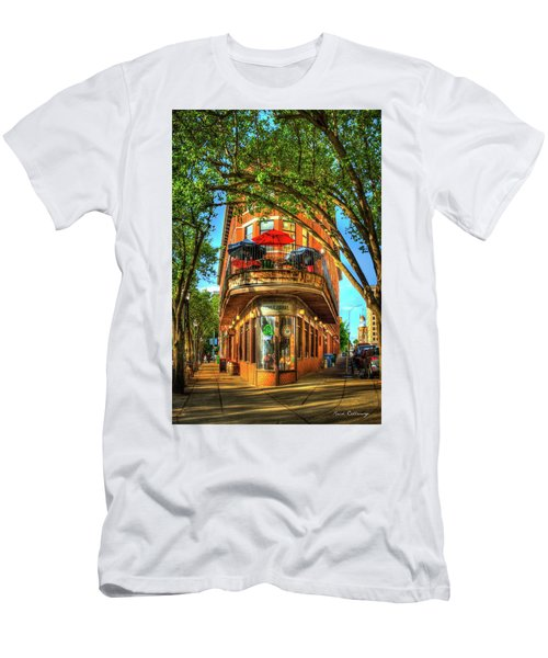 Flatiron Style Pickle Barrel Building Chattanooga Tennessee Men's T-Shirt (Slim Fit) by Reid Callaway
