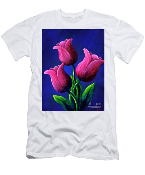 Floating Tulips Men's T-Shirt (Athletic Fit)