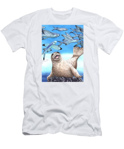Flock Of Fish Men's T-Shirt (Athletic Fit)