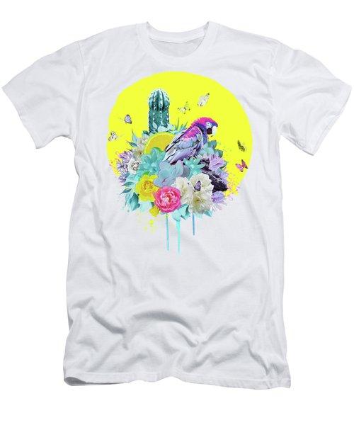 Floral Ara Men's T-Shirt (Athletic Fit)